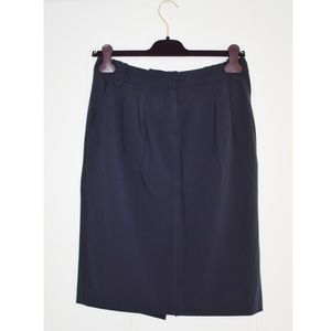 Piazza Sempione Navy Blue Pencil Skirt Sz 40/6